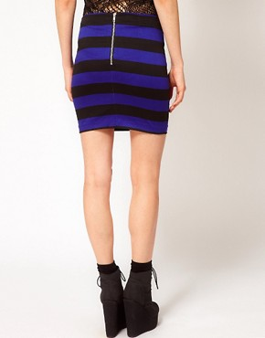 Image 2 ofMotel Striped Mini Skirt