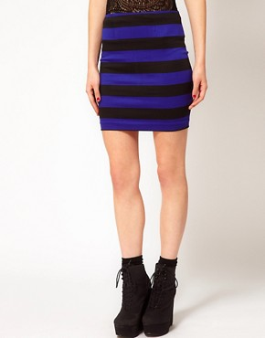 Image 4 ofMotel Striped Mini Skirt