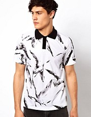 Your Eyes Lie Polo with Bird Print