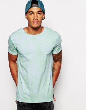 ASOS T-Shirt With All Over Tie Dye Print And Rolled Sleeve