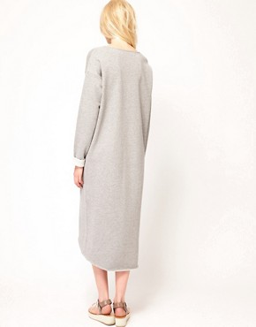 Image 2 ofJust Female Lurex Sweatshirt Midi Dress