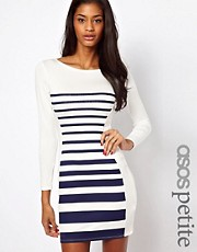 ASOS PETITE Exclusive Mini Bodycon Dress In Stripe