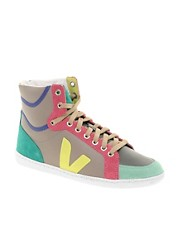 Veja x Domino SPMA Multi-coloured Moonrock High Top Trainers