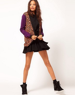 Image 4 ofASOS Leopard Cardigan With Contrast Sleeves