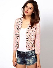 French Connection Mosaic Sequin Jacket