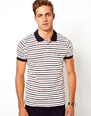French Connection Stripe Polo Shirt