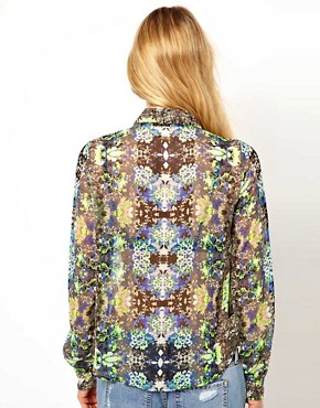 Image 2 ofVila Mirror Print Blouse