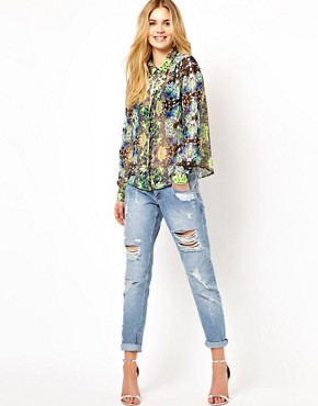 Image 4 ofVila Mirror Print Blouse