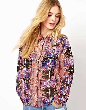 Image 1 ofVila Mirror Print Blouse