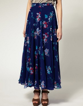 Image 4 ofFrench Connection Sweet Pea Print Maxi Skirt