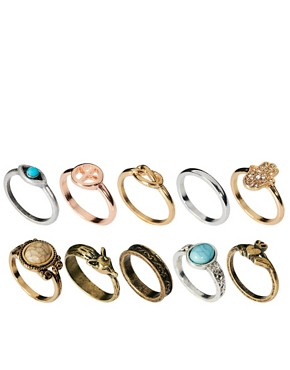 Image 1 ofRiver Island Blogger Ring Pack