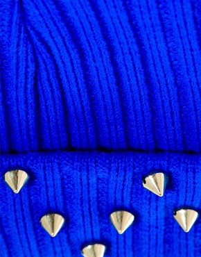 Image 3 ofASOS Beanie With Studded Turn Up