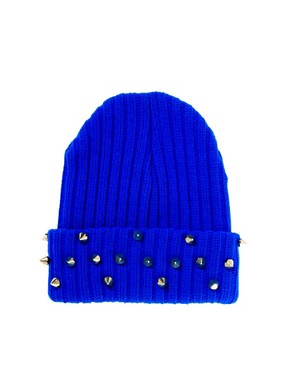 Image 4 ofASOS Beanie With Studded Turn Up
