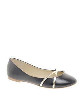 Image 1 of ASOS LAUGH Ballet Flats