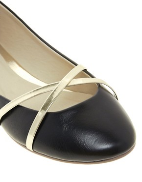 Image 2 of ASOS LAUGH Ballet Flats