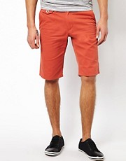 Solid Chino Shorts
