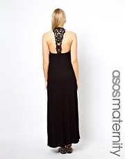 ASOS Maternity Dress With Macrame Back