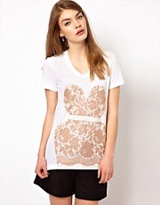 Markus Lupfer Lace Bodice T-Shirt
