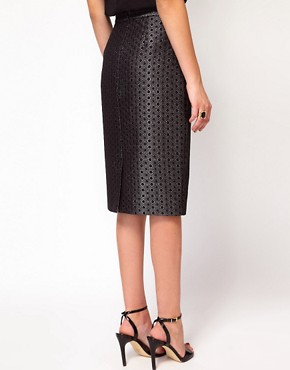 Image 2 ofWhistles Lia Jacquard Pencil Skirt