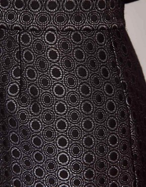 Image 3 ofWhistles Lia Jacquard Pencil Skirt