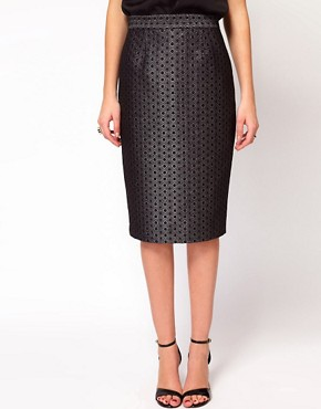 Image 4 ofWhistles Lia Jacquard Pencil Skirt