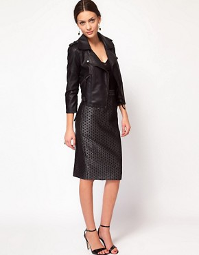 Image 1 ofWhistles Lia Jacquard Pencil Skirt