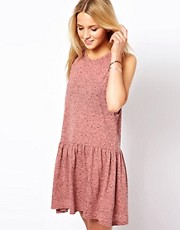 ASOS Smock Dress In Texture With Drop Armhole