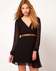 Rare Wrap Detail Dress With Belt