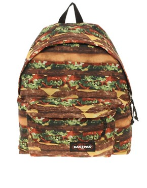 Image 1 ofEastpak Burger Print Authentic Backpack
