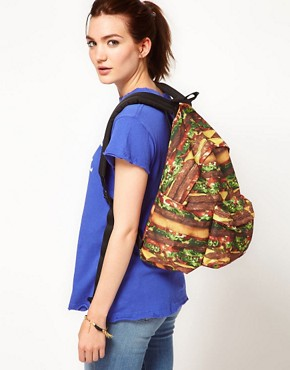 Image 3 ofEastpak Burger Print Authentic Backpack