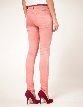Image 2 ofASOS Skinny Jeans in Washed Rose #4