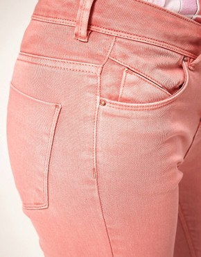Image 3 of ASOS Skinny Jeans in Washed Rose #4