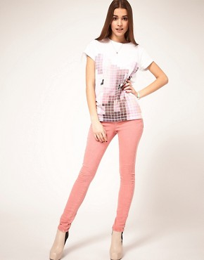 Image 4 of ASOS Skinny Jeans in Washed Rose #4