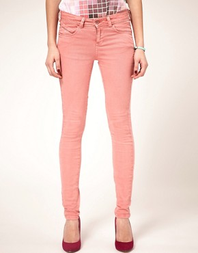 Image 1 ofASOS Skinny Jeans in Washed Rose #4