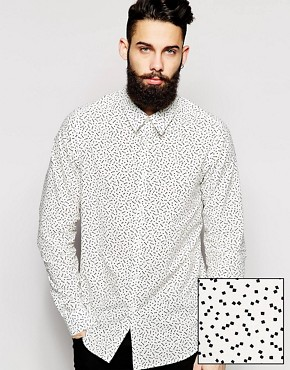 ASOS Shirt In Lightweight Fabric With Ditsy Print