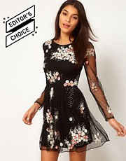 ASOS Skater Dress With Embellishment