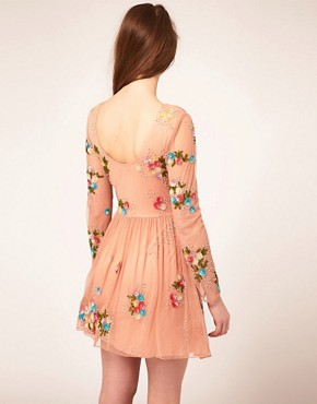 Image 2 ofASOS Skater Dress With Embellishment