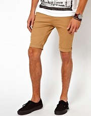 Pantaln corto pitillo elstico de River Island