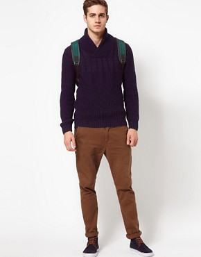 Image 4 ofASOS Shawl Collar Jumper