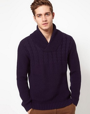 Image 1 ofASOS Shawl Collar Jumper