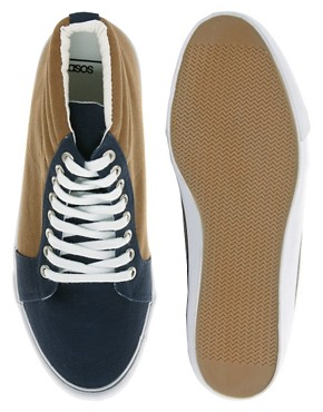 Image 3 ofASOS Trainers With Padded Cuff