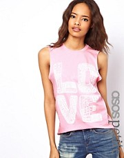 ASOS PETITE Exclusive Love Tank