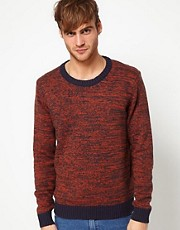 Solid Sweater with Contrast Trim
