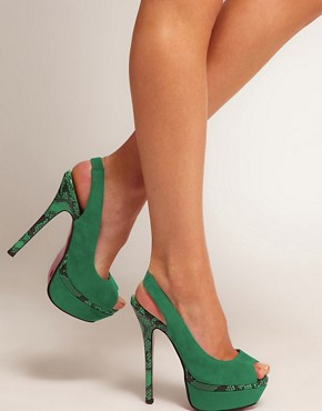 Image 3 ofNew Look Sly Platform Slingback Shoes