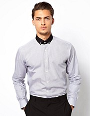 Lambretta Shirt With Contrast Collar