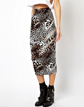 Image 4 of ASOS Pencil Skirt in Leopard Print