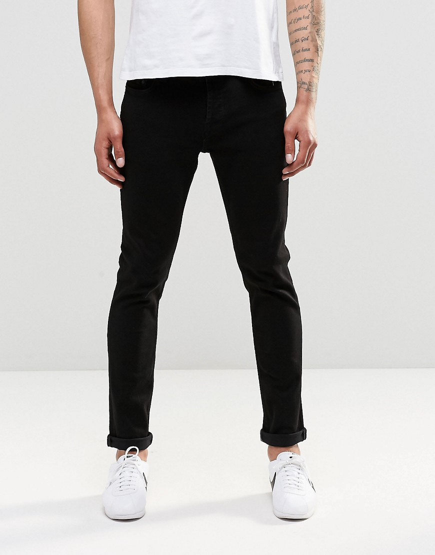 Only & Sons Black Slim Fit Jeans with Stretch - Black