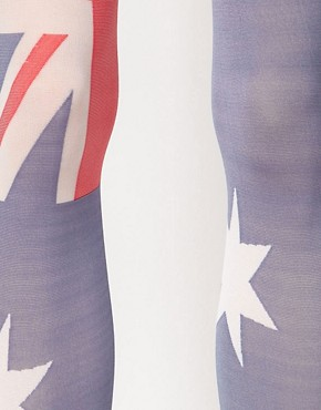 Image 2 ofHouse of Holland For Pretty Polly Australia Flag Tights