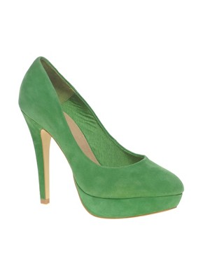 Image 1 ofASOS POPPET Platform Suede Court Shoes