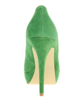 Image 2 ofASOS POPPET Platform Suede Court Shoes